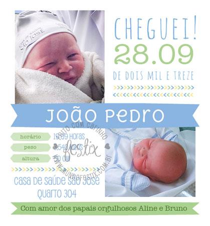 Aviso de nascimento.
