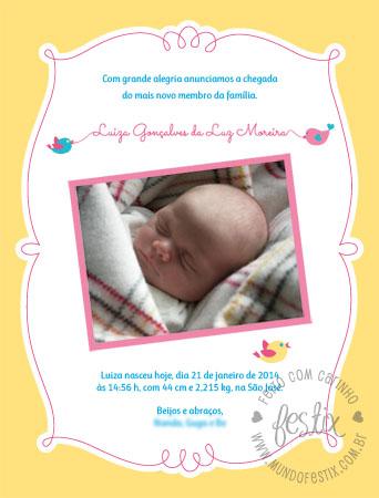 Aviso de nascimento