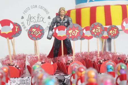 Topper de docinho do Thor