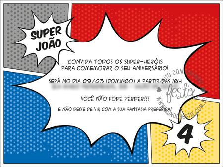Festa De Super Heróis Mundo Festix