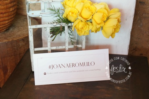 Display #joanaeromulo para os noivos