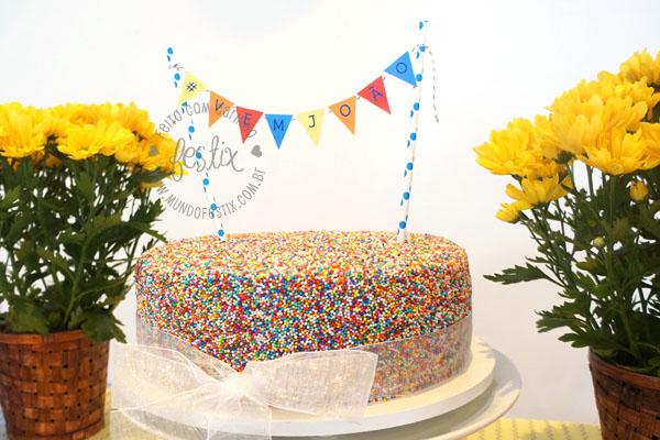Bandeirinha de bolo