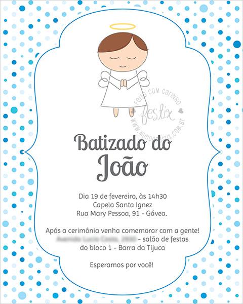 convite batizado
