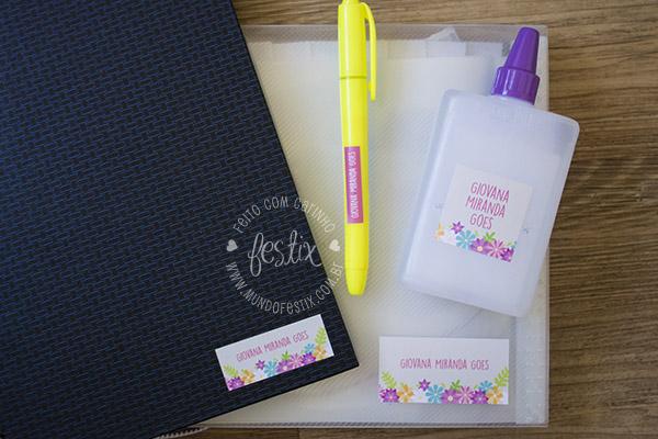 Kit escolar floral