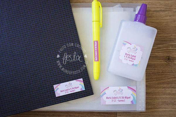 kit escolar unicornio